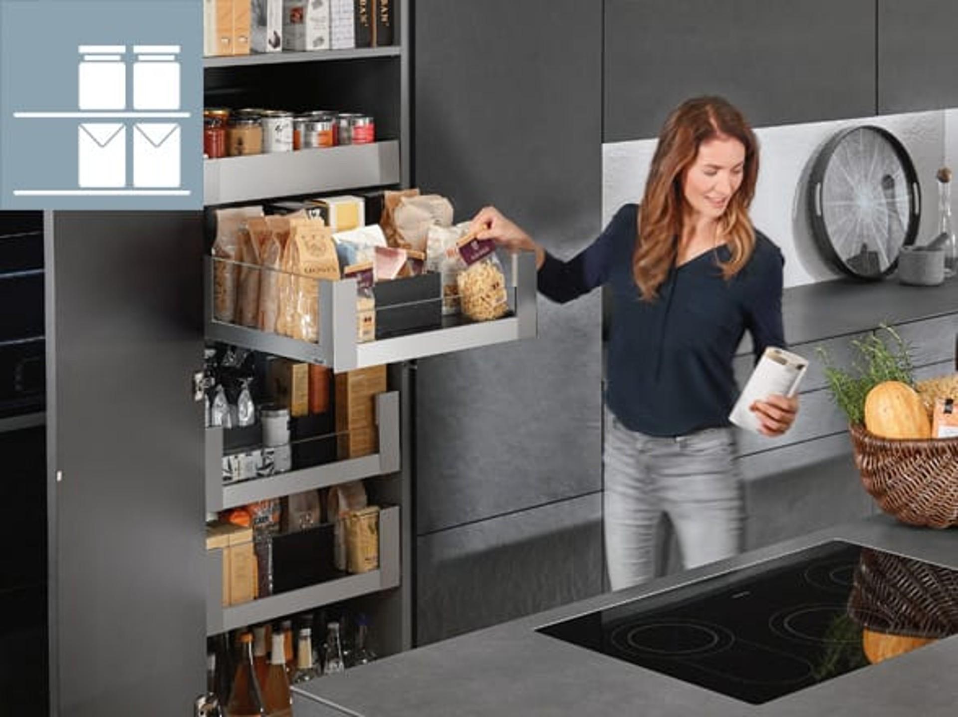 Keuken Opbergen Organizers : Ideeën voor praktische keukens blum