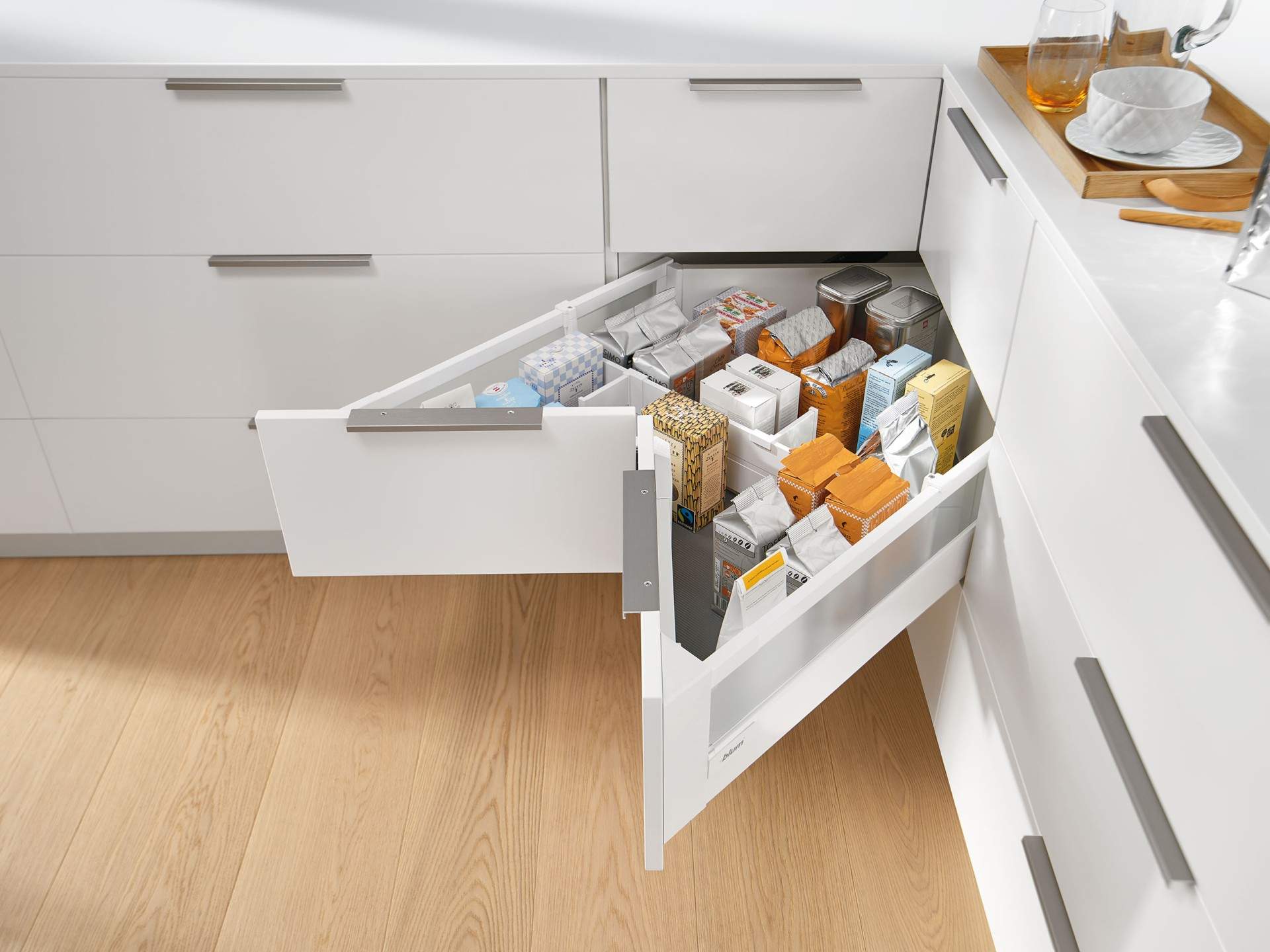 Space Corner Cabinet For Provisions Blum
