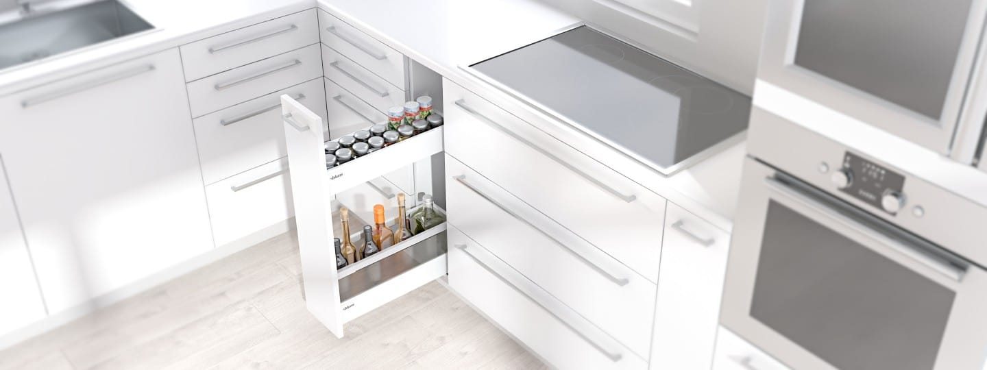 Narrow Cabinet For Bottles, Herbs And Spices | Blum