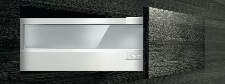 500mm unit height D TANDEMBOX plus Blumotion inner drawer Blum NL=500 mm.
