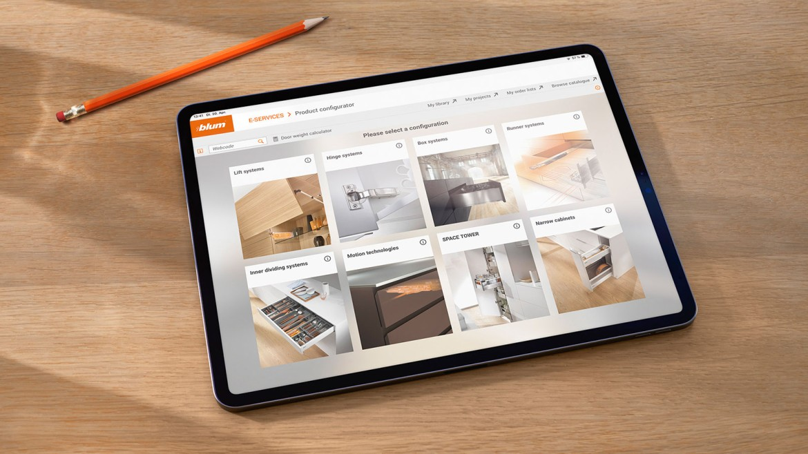 Easy order Blum fittings online at Interfit Furniture Components